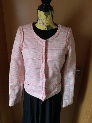 Maison Scotch Tweed blazer lichtroze-roségoud