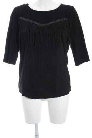 Maison Scotch Empire shirt zwart casual uitstraling
