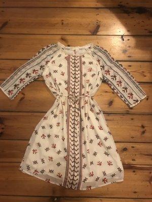 Maison Scotch/ Femme Marie, Pioneer: Kleid creme/ beige, blau-rot, Folklore, Gr. 1/ 34/ XS, NP 200