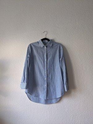 Maison Scotch Camisa de manga larga blanco-azul acero