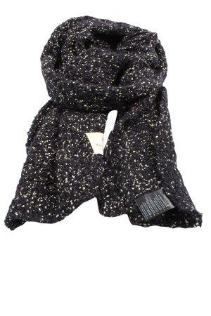 Maison Scotch Szydełkowany szalik czarny-biały W stylu casual