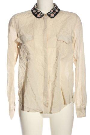 Maison Scotch Hemd-Bluse creme-schwarz Business-Look