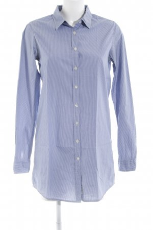 Maison Scotch Hemd-Bluse blau-weiß Streifenmuster Business-Look