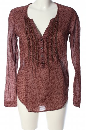 Maison Scotch Hemd-Bluse rot Allover-Druck Casual-Look