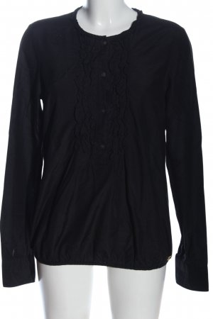 Maison Scotch Hemd-Bluse schwarz Business-Look