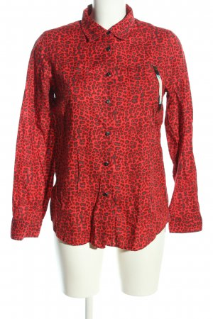 Maison Scotch Hemd-Bluse rot-hellgrau Allover-Druck Casual-Look