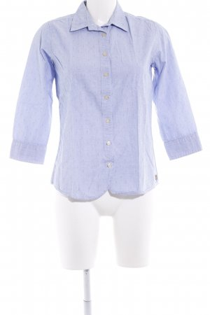 Maison Scotch Hemd-Bluse himmelblau-weiß abstraktes Muster Business-Look