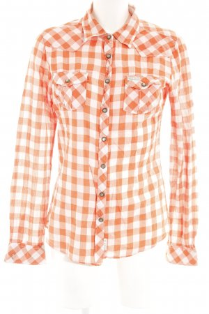 Maison Scotch Hemd-Bluse orange-weiß Casual-Look