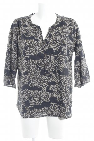 Maison Scotch Hemd-Bluse schwarz-camel Blumenmuster Casual-Look