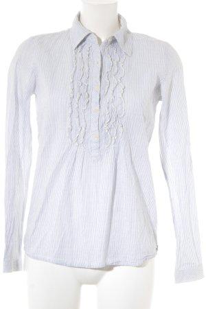 Maison Scotch Hemd-Bluse weiß-dunkelblau Streifenmuster klassischer Stil