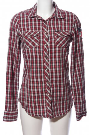 Maison Scotch Holzfällerhemd rot-weiß Allover-Druck Casual-Look