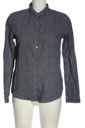 Maison Scotch Holzfällerhemd schwarz-weiß Allover-Druck Casual-Look