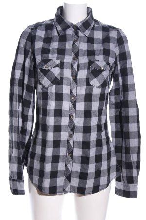 Maison Scotch Holzfällerhemd schwarz-weiß Karomuster Casual-Look