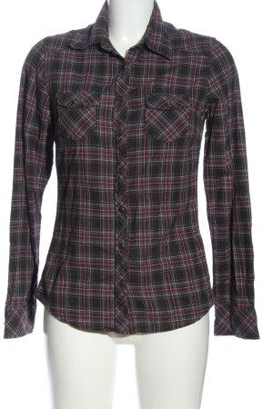 Maison Scotch Holzfällerhemd braun-lila Karomuster Casual-Look
