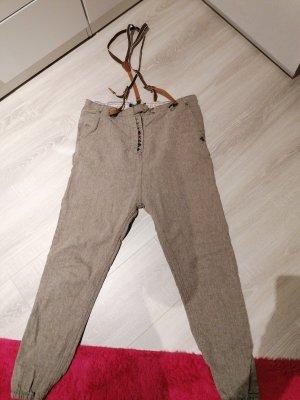 Maison Scotch Pantalone di lana marrone-grigio-marrone chiaro