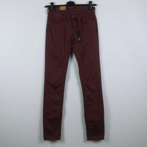 Maison Scotch Jersey Pants red-dark red cotton