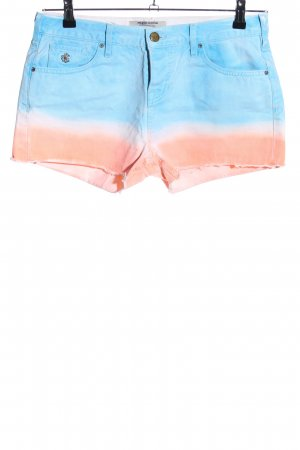 Maison Scotch Hot Pants türkis-nude Farbverlauf Casual-Look