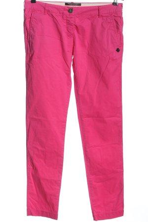 Maison Scotch Pantalone a vita bassa rosa stile casual