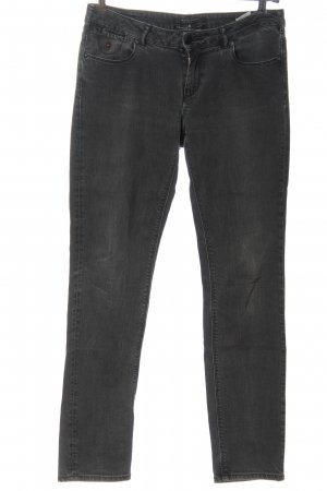 Maison Scotch Jeans vita bassa nero puntinato stile casual
