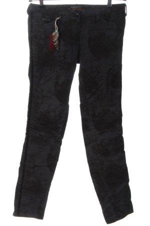 Maison Scotch Jeans vita bassa nero motivo astratto stile casual