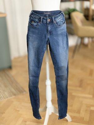 Maison Scotch Jeans blau Waschung Stretch Baumwolle W25 L32