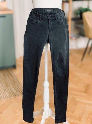 Maison Scotch Jeans dunkelgrau Baumwolle Stretch bequem W25 L32