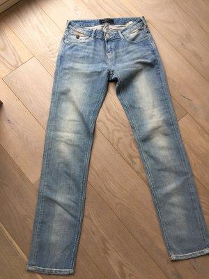 Maison Scotch Jeans cigarette bleu azur