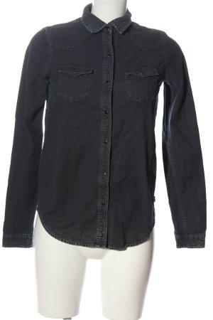 Maison Scotch Camicia denim nero stile casual