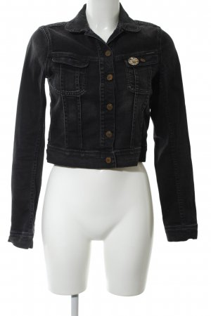 Maison Scotch Jeansjacke schwarz Casual-Look