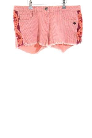 Maison Scotch Short en jean rose-blanc cassé motif rayé style décontracté