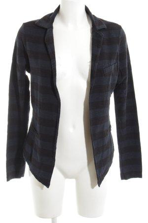 Maison Scotch Jerseyblazer schwarz-blau Streifenmuster Casual-Look