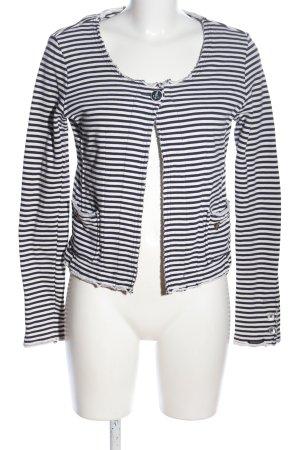 Maison Scotch Jerseyblazer weiß-schwarz Streifenmuster Casual-Look