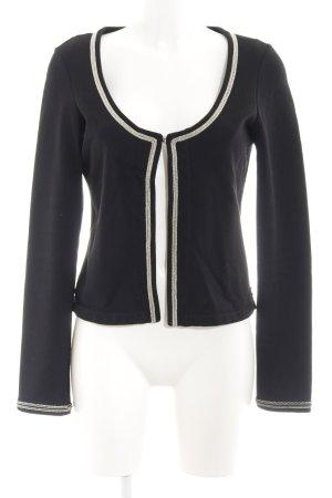 Maison Scotch Jersey blazer zwart klassieke stijl