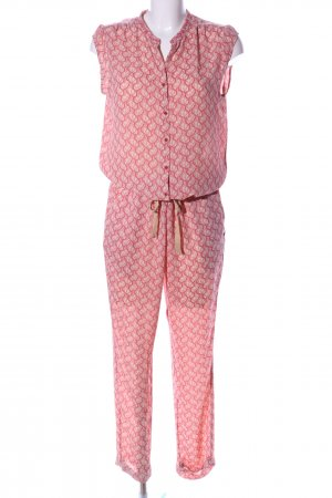 Maison Scotch Jumpsuit pink-creme abstraktes Muster Casual-Look