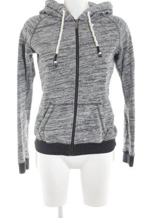 Maison Scotch Kapuzensweatshirt hellgrau-schwarz meliert Casual-Look