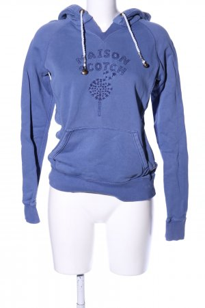 Maison Scotch Kapuzensweatshirt blau Motivdruck Casual-Look