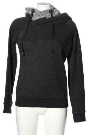 Maison Scotch Kapuzensweatshirt schwarz meliert sportlicher Stil