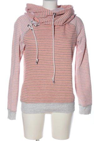 Maison Scotch Sweat à capuche rose-gris clair imprimé allover