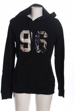 Maison Scotch Kapuzensweatshirt schwarz Motivdruck Casual-Look