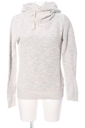 Maison Scotch Kapuzensweatshirt hellgrau meliert Casual-Look