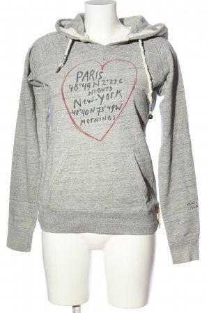 Maison Scotch Kapuzensweatshirt Motivdruck Casual-Look