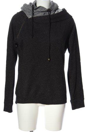 Maison Scotch Kapuzensweatshirt schwarz Webmuster Casual-Look