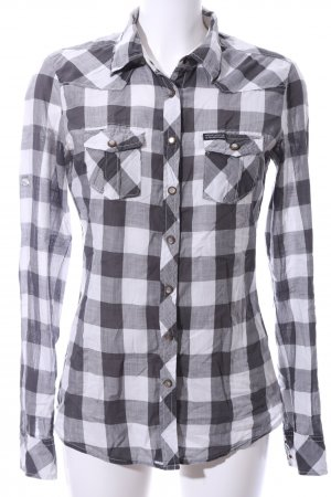Maison Scotch Checked Blouse black-white allover print casual look