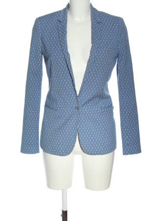 Maison Scotch Kurz-Blazer blau-hellgrau Allover-Druck Business-Look