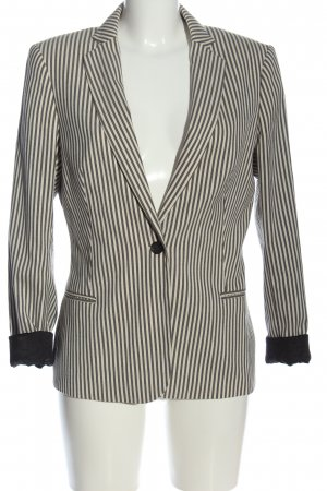 Maison Scotch Kurz-Blazer braun-weiß Streifenmuster Business-Look