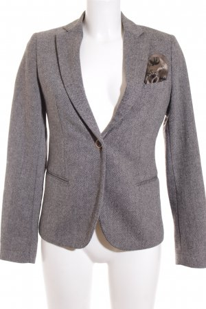 Maison Scotch Korte blazer grijs-bruin zakelijke stijl