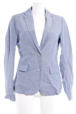 Maison Scotch Korte blazer azuur gestippeld zakelijke stijl