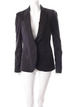 Maison Scotch Korte blazer zwart simpele stijl