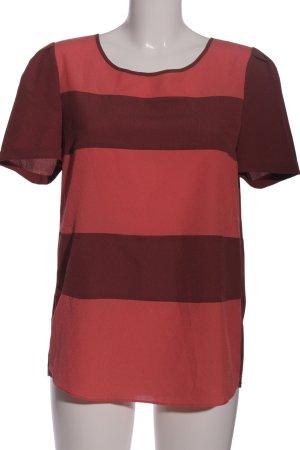 Maison Scotch Kurzarm-Bluse braun-rot Casual-Look