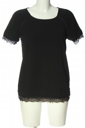 Maison Scotch Kurzarm-Bluse schwarz Casual-Look